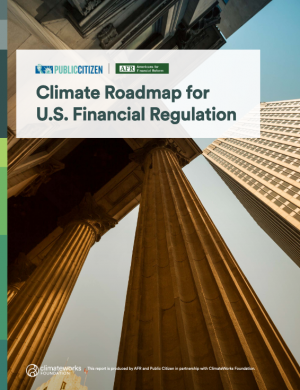 Climate Roadmap for US Financial Regulation report cover