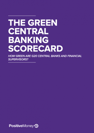 The Green Central Banking Scorecard report cover