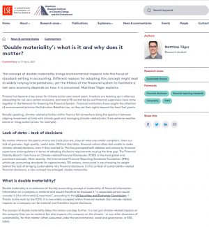 'Double materiality': what is it and why does it matter?
