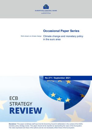 Climate change and monetary policy in the euro area cover